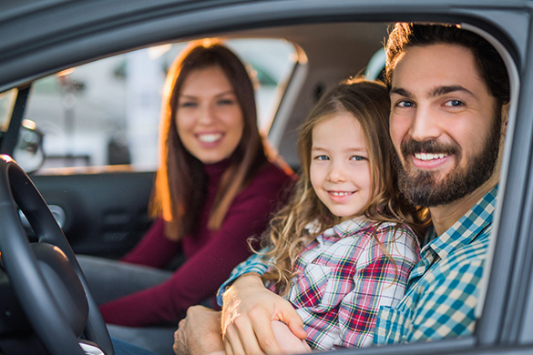 Family in a car (Loans for Your Everyday Life)