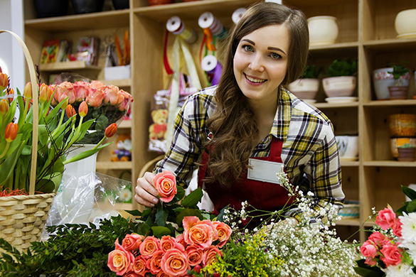 Woman working in flower shop (Easy and Cost Effective)
